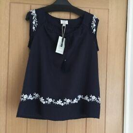 Ladies New Monsoon Linen top size 10