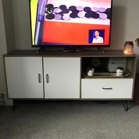 Hygena Ivy 2 Door 1 Drawer Large Sideboard on Wire Legs / or TV Unit. Was £199.99