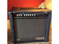 Crate Electric Guitar Amp with build in effects plus footswitch