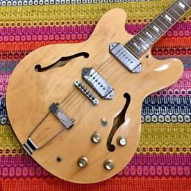 EPIPHONE CASINO, NATURAL FINISH.
