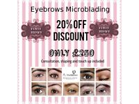 Eyebrows Microblading 20% OFF