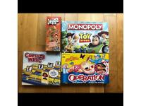 All Classis Board Games-Monoply, Operation Ouch, Jenga & Guess Who