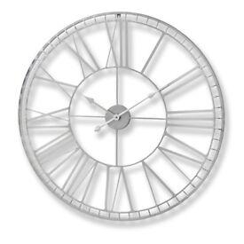 Wayfair Large Nickel Wall Clock