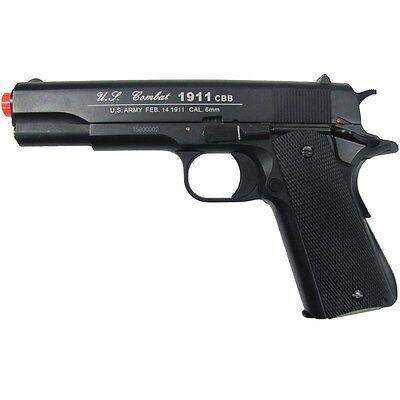 400 FPS WG AIRSOFT METAL M 1911 CO2 GAS BLOWBACK HAND GUN PISTOL w/ 6mm BB BBs (1911 Airsoft Gas Blowback Pistol)