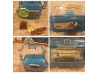 Hamster Cage and Accessories - Full Starter Set with Food and Toys - Excellent Condition