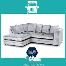 😇ABLY New😇2 Seater £169 3 Seater £195 3+2 £295 Corner Sofa £295-Crushed Velvet Jumbo Cord Brand😇
