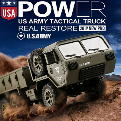 Fayee FY004A 2.4G 1/16 6WD Off-road Climbing RC Car US Military Truck USA