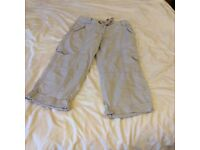 Ladies size 8 3/4 length cargo trousers collect from Sprowston or meet at Riverside