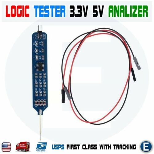Logic Tester Pen Level Tester 5V 3.3V Digital Circuit Analyzer Detecting Probe