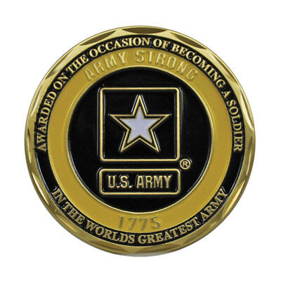 Logo Challenge Coin - US Army Soldier 1775 Logo Double Sided Collectible Military Challenge Coin