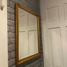 """Gold wooden mirror 24""""X18"""""""