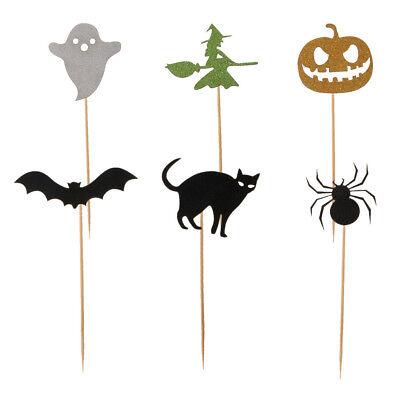 6pcs sortiert Halloween Theme Cupcake Picks Kuchen Topper Hallowmas Dekor