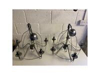 ikea large chandeliers pair grey metal