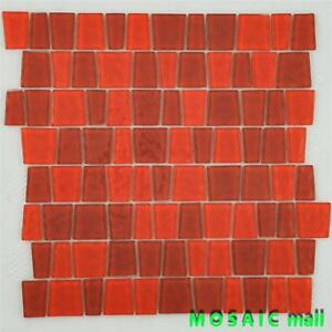about glass mosaic tile kitchen backsplash shower wall floor red snake