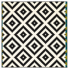 IKEA LAPPLJUNG RUTA GEOMETRIC RUG black and white