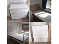 Ikea furniture from 3 bed house for sale - 3 beds, 3 chests, Dining table & Chairs, Small sofa