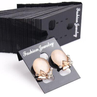 1000pcs Earring Display Cards Wholesale Bulk Jewelry Packaging Black