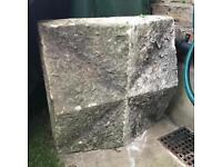 """Victorian Yorkstone Antique Square Pillar Pier Cap Coping Stone 17""""x17 Reclaimed"""