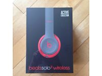 Beats by Dr. Dre Solo 2 Wireless Headband Wireless Headphones - Siren Red
