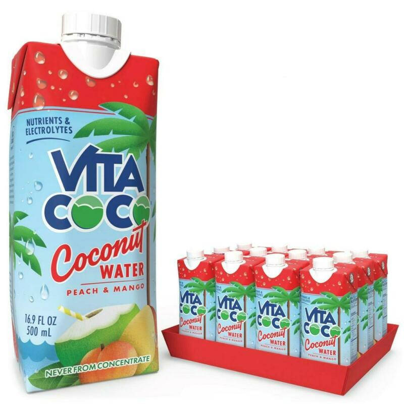 Vita Coco Coconut Water Peach Mango 16.9 fl oz Tetra , 12 Pack
