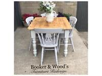 Beautiful pine table and 4 chairs