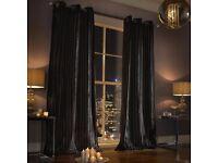 New Kylie Minogue Black Illiana Curtains - 229x183cm Clearance