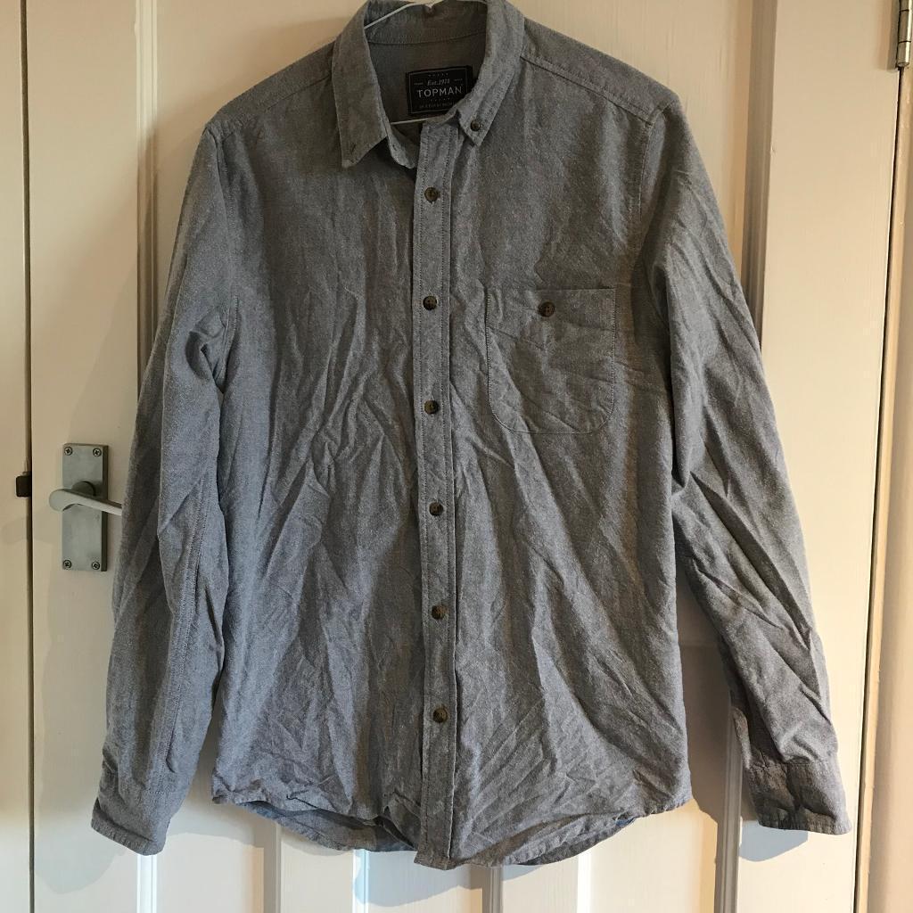 Topman Light Blue Flannel Shirt