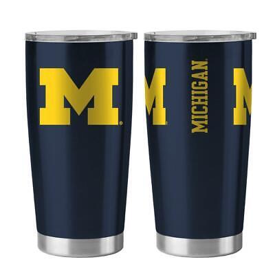 Michigan Wolverines Ncaa Tumbler - Michigan Wolverines 20oz Ultra Travel Tumbler [NEW] NCAA Cup Mug Coffee Steel
