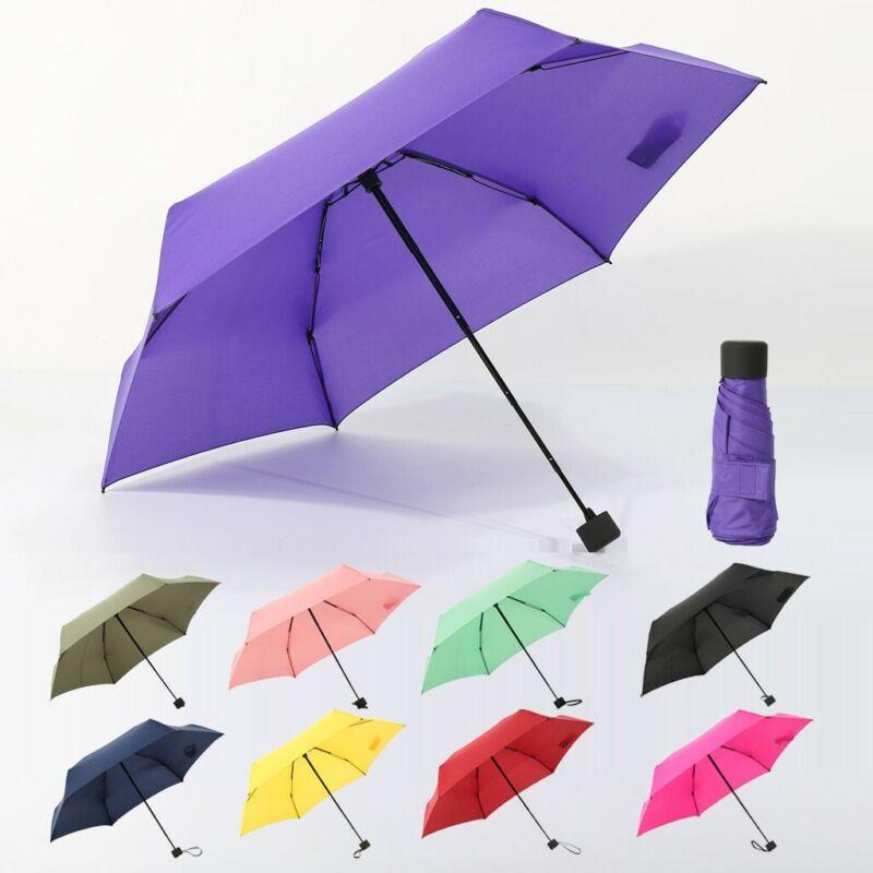 Mini Pocket Compact Umbrella Women Sun Anti UV Folding For R