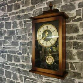 Seiko Vintage Antique Style Pendulum Chime Wall Clock