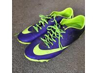Nike football boots purple green uk 10