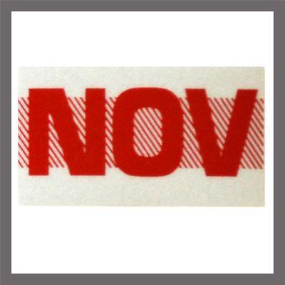 November Month California Dmv License Plate Red Registration Sticker Tag Yom Ca