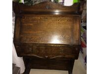 Wooden bureau (fold down desk)