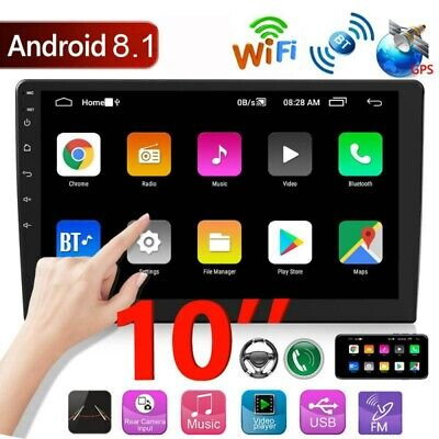 10.1'' Android 8.1 GPS Navi Car Stereo Bluetooth 2 DIN Touch MP5 Player FM Radio