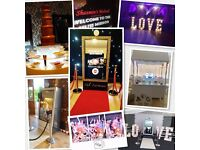 Selfie Mirror Magic Mirror Photo Booth Giant Love Letters Chocolate Fountain Sweet Cart & Dj's...