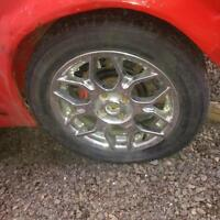 """16"""" chrome aftermarket rims with tires"""