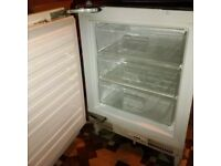 fully integrated under the counter freezer in excellent condition can deliver