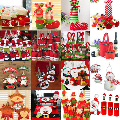 Santa Pants Christmas Candy Bags Wine Stocking Bottle Gift Bag Xmas - Xmas Candy