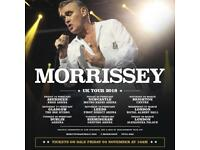 3 tickets to see MORRISSEY at the Hydro. LESS THAN FACE VALUE