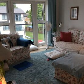 Immaculate 3 seater sofa and chair