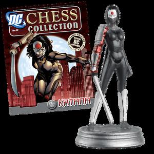 KATANA DC CHESS PIECE in BOX + MAG #12 Batman DC COMICS EAGLEMOSS Molendinar Gold Coast City Preview