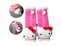 HELLO KITTY CAR SEAT BELT COVERS