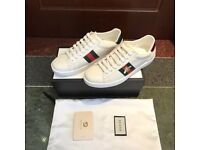Gucci Ace Trainers White Bee Snake Tiger Sneakers