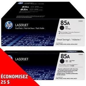 Cartouches de toner d'origine HP85A – Achetez directement de HP et économisez! Achetez-en deux, obtenez 25$ de rabais