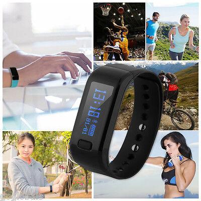 OLED Smart Armband Watch Bluetooth Sport Fitness Tracker Handy Uhr Schrittzähler