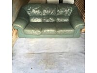 Leather sofa (free delivery)