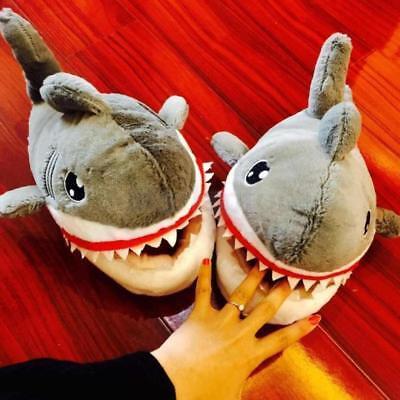 Erwachsene Hausschuhe Hai (Große Hai Form Hausschuhe Plüsch Schlappen Tier Pantoffel Erwachsene)