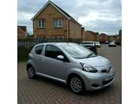 59 PLATE TOYOTA AYGO PLATINUM, LEATHER, FULL HISTORY, TAX £20, MILEAGE 47000
