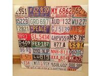New in packaging American number plate canvas