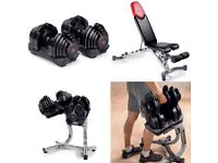 Bowflex 1090 4-41Kg SelectTech Dumbbells + Adjustable Bench & Stand 🔥